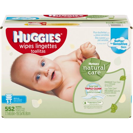 Huggies Natural Care Baby Wipes Refill Unscented