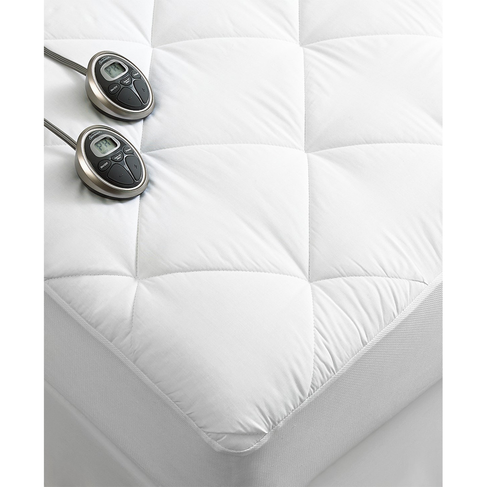 Sunbeam Premium Luxury Quilted Electric Heated Mattress ...