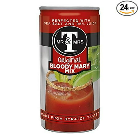 24 PACKS : Mr & Mrs T Original Bloody Mary Mix, 5.5 fl oz - Halloween Bloody Mary Cocktail