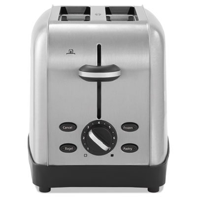 Extra Wide Slot Toaster  2 Slice  8 X 12 7 8 X 8 1 2  Stainless Steel  Sold As 1 Each