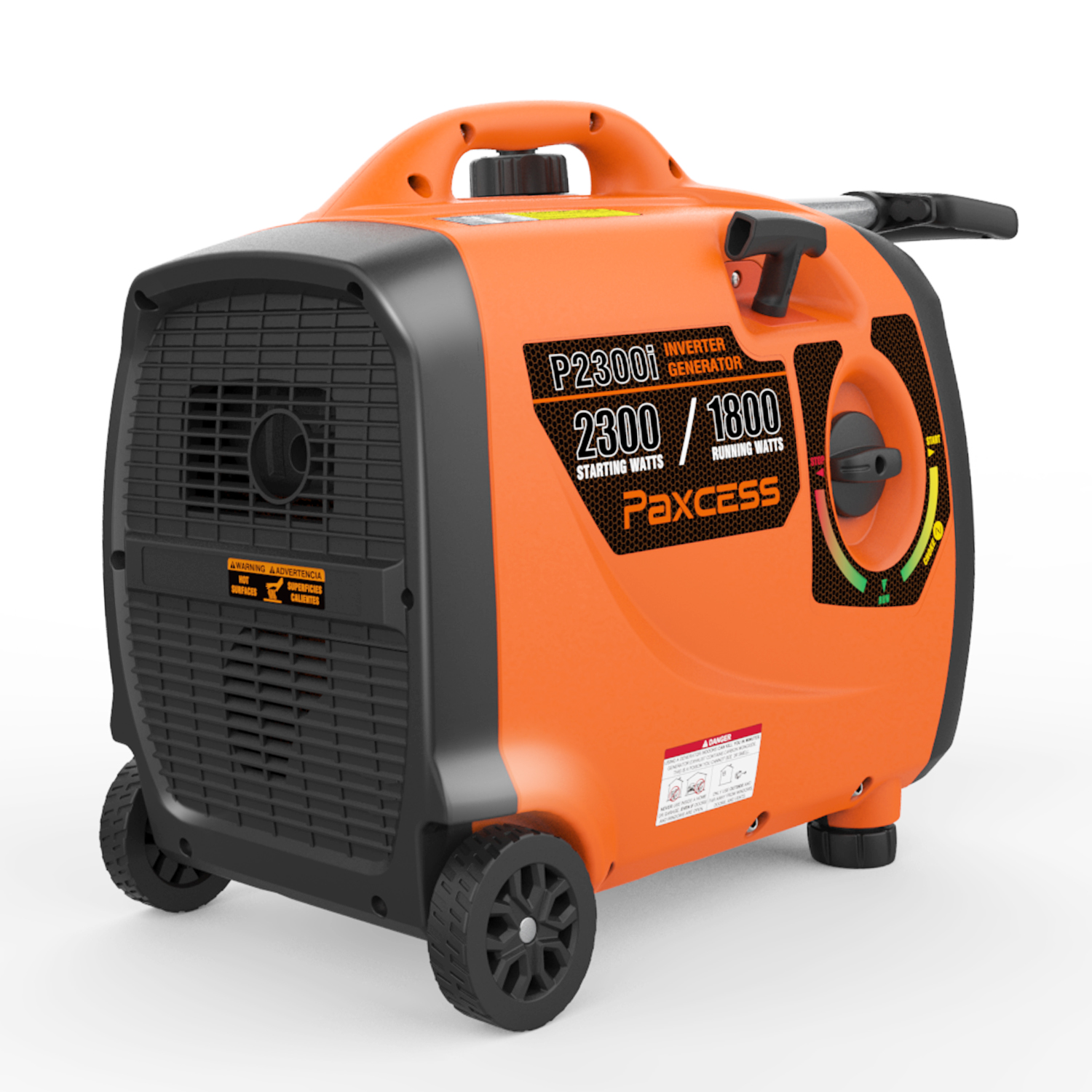 Paxcess Gas Powered 2300 Watts Portable Generator RV/Parallel Ready Inverter Generator With Wheel and Handle Generator CARB Complaint For HOME, Camping, Travel, Emergency.