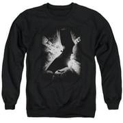 Batman Begins Bw Poster Mens Crewneck Sweatshirt
