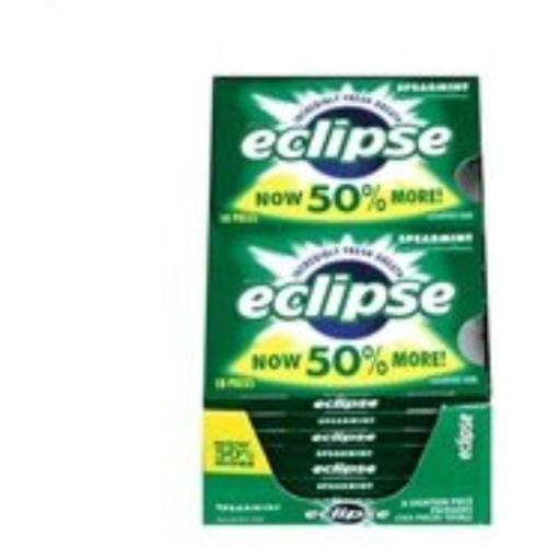 Eclipse  Sugar Free Gum Spearmint 8 packs (18 ct per pack) (Pack of 2)