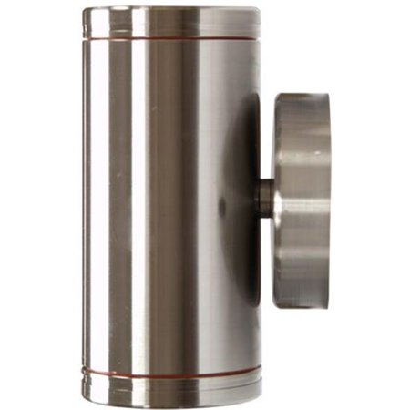 Image of Dabmar Lighting LV65-SS Stainless Steel Surface Mount Up-Down Brick, Step, Wall & Deck Light, Stainless Steel - 5.38 x 3.01 x 3.37 in.