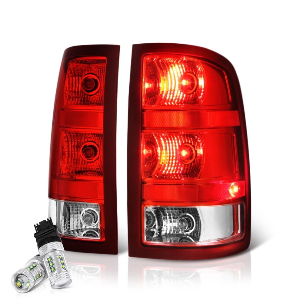 VIPMOTOZ Red Lens OE-Style Tail Light Lamp Assembly For 2007-2013 GMC Sierra 1500 2500HD 3500HD Pickup Truck