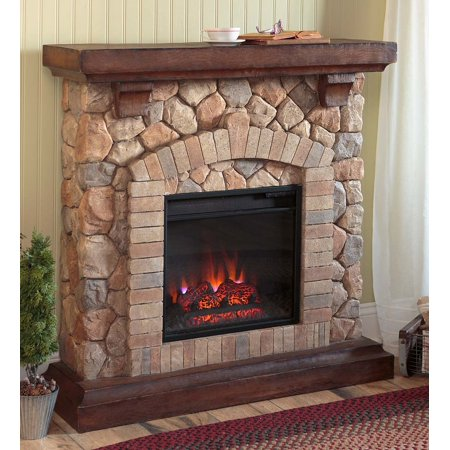 Stacked Stone Electric Fireplace Heater Ventless Fireplace