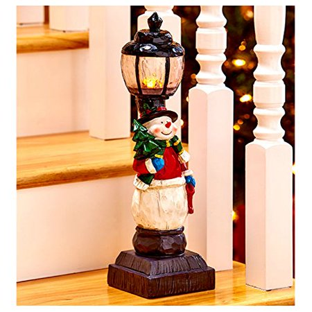 christmas decorations battery operated light lamp post indoor decor