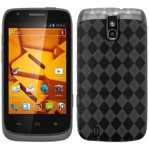 Premium Designer High Gloss TPU Soft Gel Skin Case for Sprint ZTE Force N9100, ZTE Force N9100 - Smoke Grey