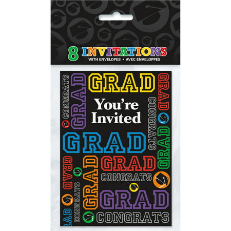 Graduation party invitations 8 count walmart graduation party invitations 8 count filmwisefo Gallery