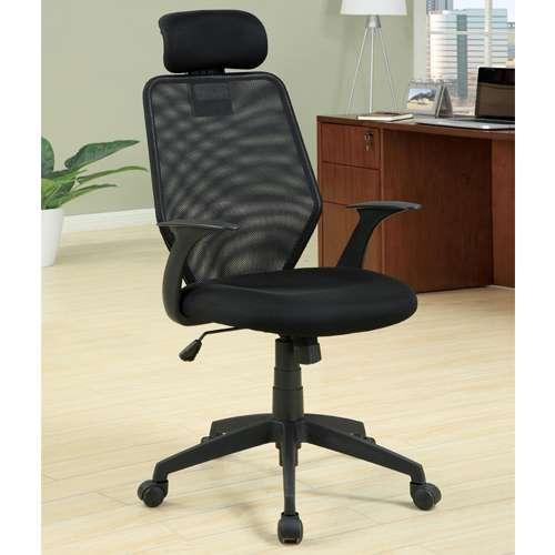 Furniture Of America Dublin Mesh Office Chair   Black   IDF FC603    Walmart.com