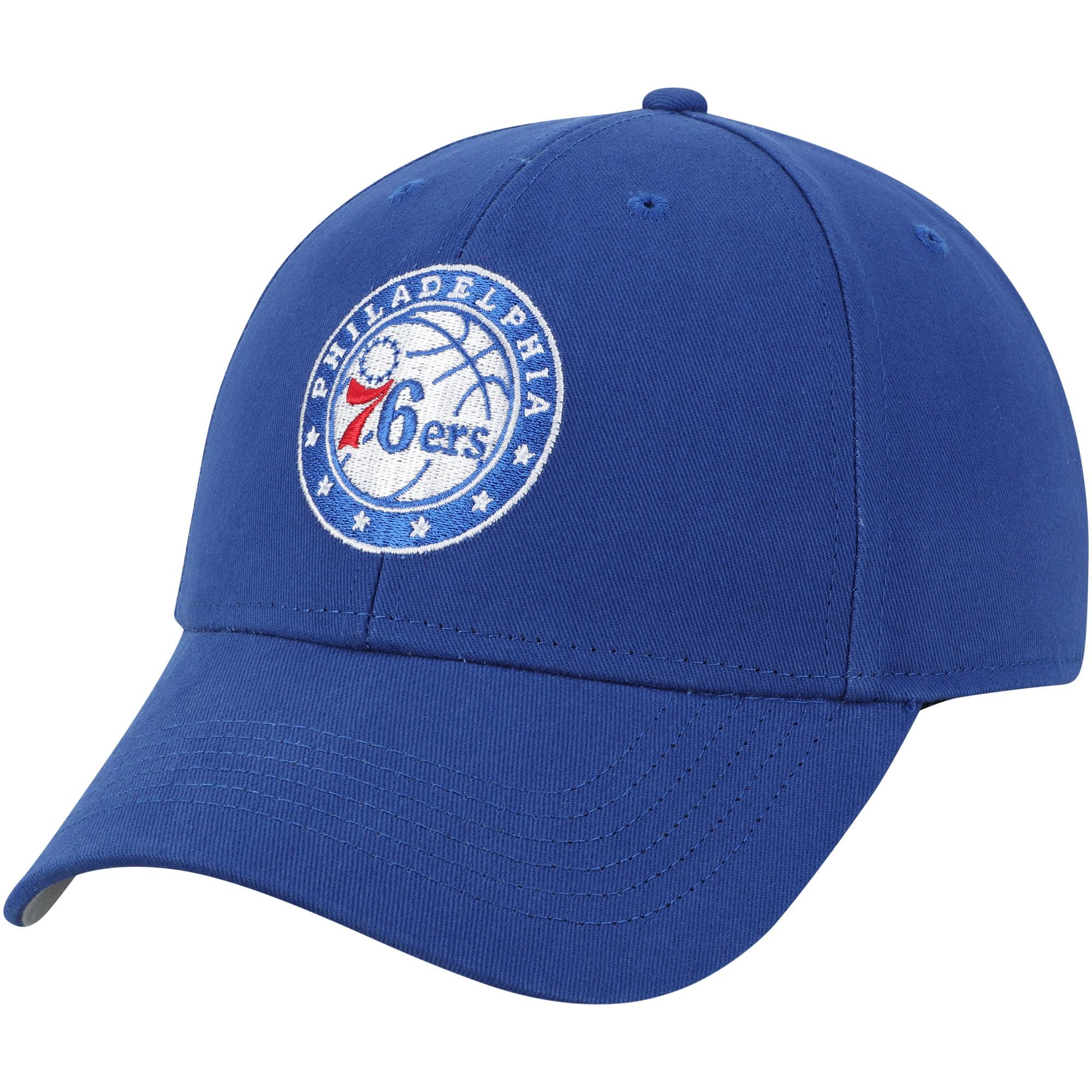 Men's Royal Philadelphia 76ers Mass Basic Adjustable Hat - OSFA