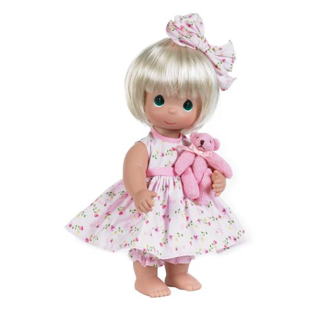 Precious Moments Dolls by The Doll Maker, Linda Rick, Bear-Foot Blessings Blonde, 12 inch doll