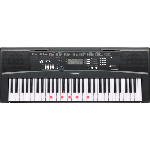Yamaha EZ-220 61-Lighted Key Touch-Sensitive Keyboard with 392 High-Quality Instrument... by Yamaha
