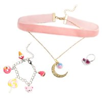 LaurDIY Sweetie Pie DIY Jewelry Making Kit with Cute Candy Charms, Pink