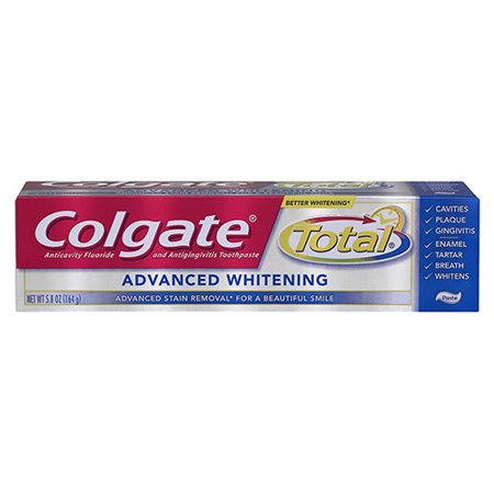 Colgate Total Whitening Dentifrice avancée - 5,8 Oz, 6 Pack
