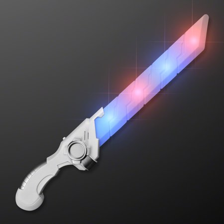 FlashingBlinkyLights Galaxy Hero Sci Fi Sword with Blue and Red Blinking LEDs