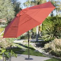 Coral Coast 11-ft. Spun Polyester Patio Umbrella with Push Button Tilt