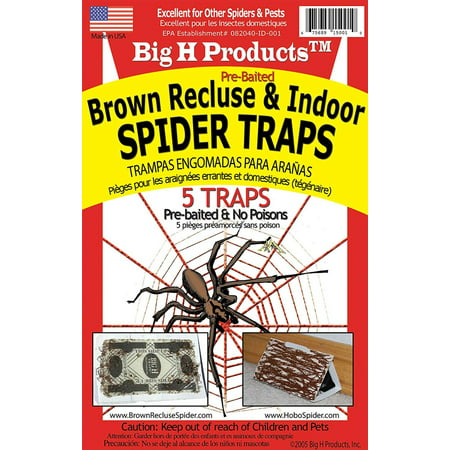 B. RECLUSE SPIDER TRAPS by MfrPartNo ACEBR15001, Big H traps are non-poisonous & contain all-natural attractants. By Big H -
