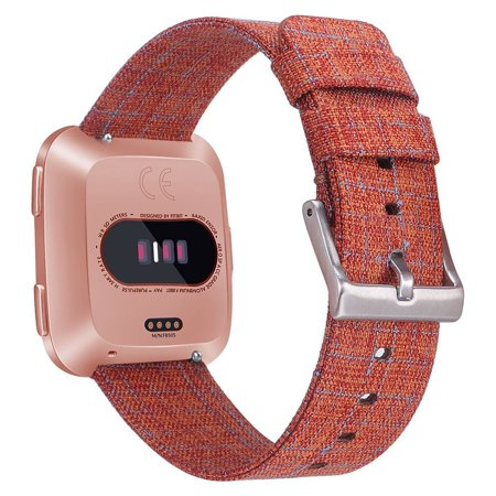 SDFB-002 Watch Band Fitbit Strap Canvas Plaid Wrist Strap Replacement Wristband for Fitbit Versa Fitness Smart Watch - image 3 de 7
