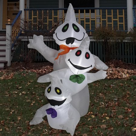 3.5' Inflatable Lighted Pumpkin Trio Halloween Outdoor Decoration