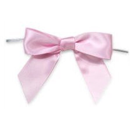 Baby Pink Satin Twist Tie Food & Party Favor Treat Bags Packaging Bows - Halloween Party Food Ideas For Toddlers
