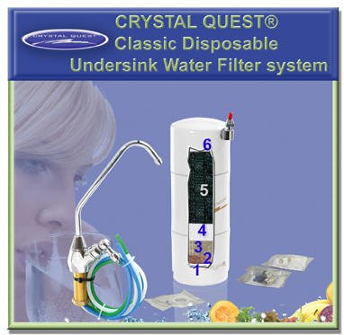 CRYSTAL QUESTA Classic Disposable Undersink PLUS Water Filter System