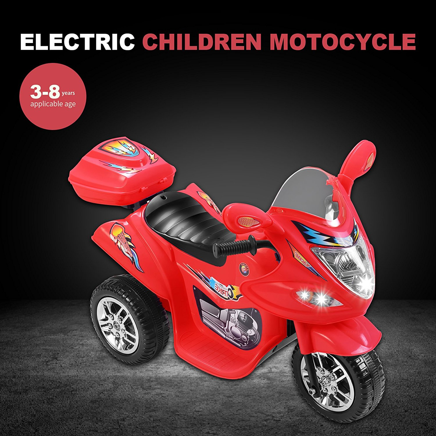 Red 6V Kids Ride on Motorcycle Toy Battery Powered Electric w Remote Control by Uenjoy