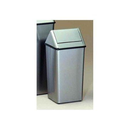 Stainless Steel Push Top Trash Receptacle