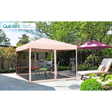 10x10 Ez Pop Up Canopy With Netting Screen House Instant
