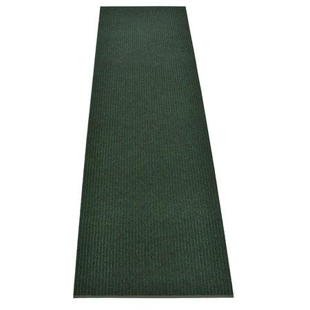 Image of Rug Runner Green Color Custom Size Indoor Outdoor Slip Skid Resistant Cut to Size Utility Mat Runner Rug Hallway Entrance Runner Rugs Carpet