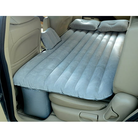 Waterproof Air Mattress Inflatable Bed for Car Back Seat Mobile Bedroom With Pump,Silver Gray