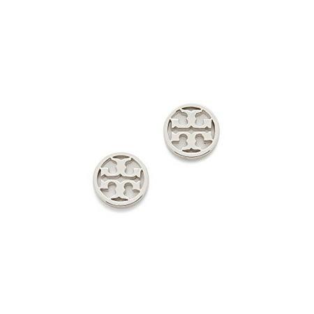 Tory Burch Cercle Logo Boucles d'oreilles en argent sur la carte avec Dust Cover - image 1 de 2