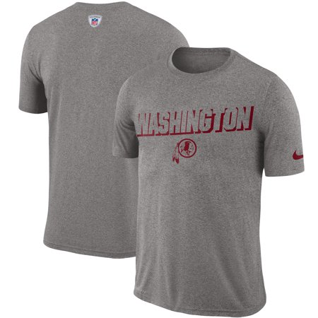 Washington Redskins Nike Sideline Legend Sweat Reveal Lift Performance T-Shirt - Heathered Gray Nike Workout Shirts