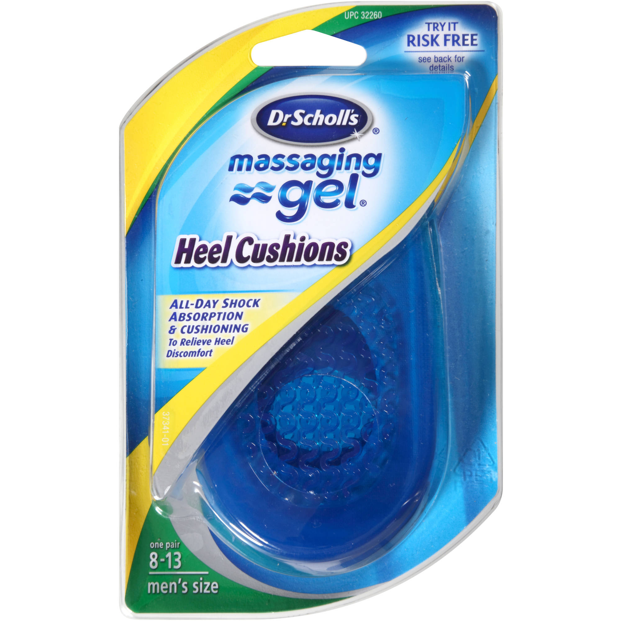 Dr. Scholl's Massaging Gel Heel Cushions, 1 pr