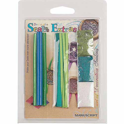 Manuscript Pen Decorative Sealing Extras, Wax, Ribbon, Glitter
