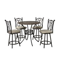 Hazelwood Home 5 Piece Pub Table Set by Home Source Industries