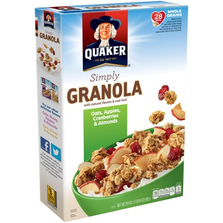 Quaker Simply Granola, Oats, Apples, Cranberries & Almonds, 24.4
