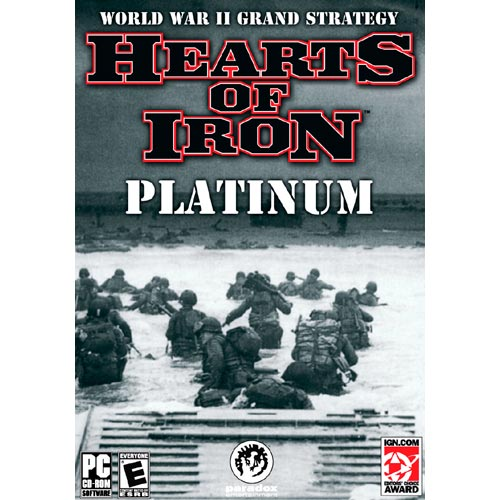 Hearts of Iron Platinum World War II Grand Strategy - First WWII PC CD Game of True Grand Strategic Scope