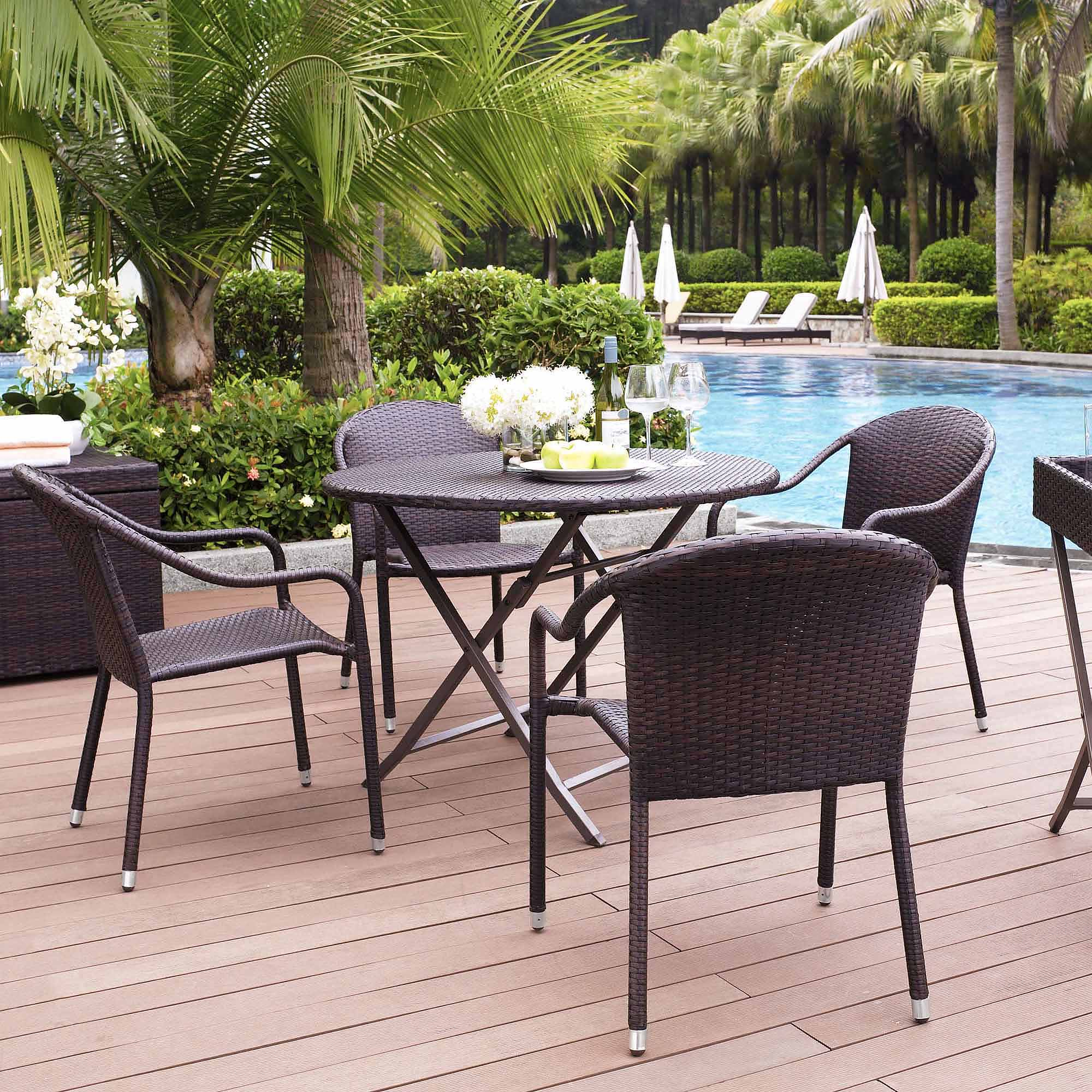 Crosley Furniture Palm Harbor 5-Piece Cafe Dining Set