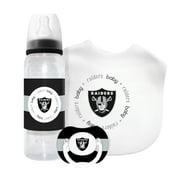 Baby Fanatic 3 Piece NFL Gift Set, Oakland Raiders