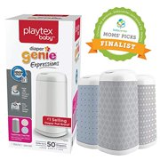 Save $3, Customizable Playtex Diaper Genie Expressions Diaper Pail + Cover + Starter Refill Bundle