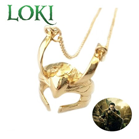 Marvel Comics Avengers Necklace Pendant - Loki Helmet - Movies TV Series Cosplay Jewelry by Superheroes