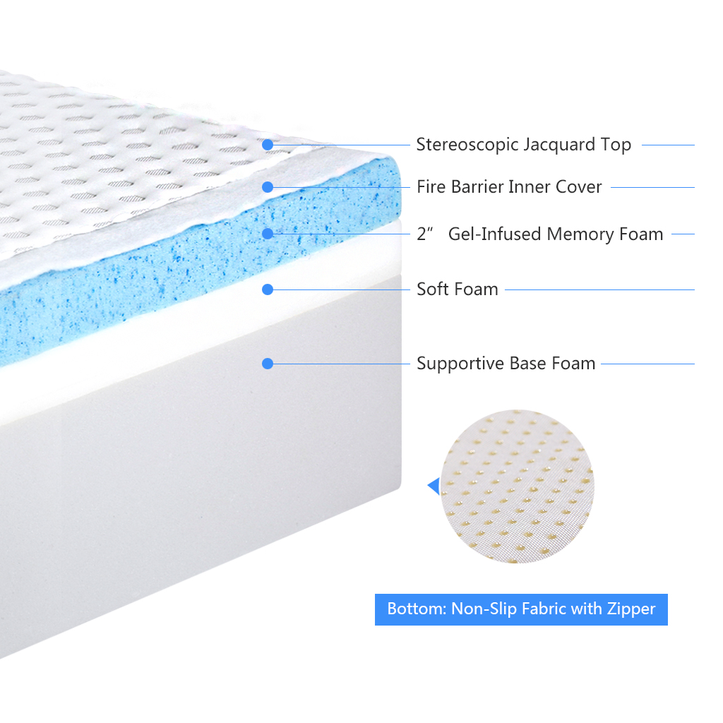 cool memory foam mattress LANGRIA 10 Inch Cool Gel High Density Memory Foam Mattress  cool memory foam mattress