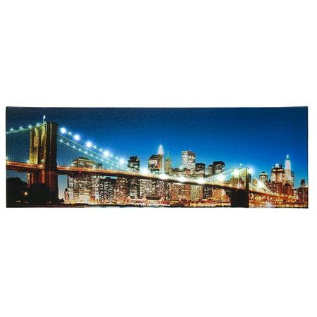Westland Giftware Brooklyn Bridge NYC LED Lighted Up Prints 18x6