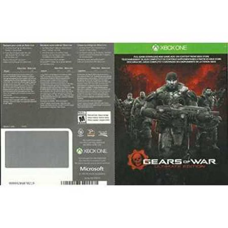 Gears of War - Ultimate Edition - Xbox One Digital Download code card