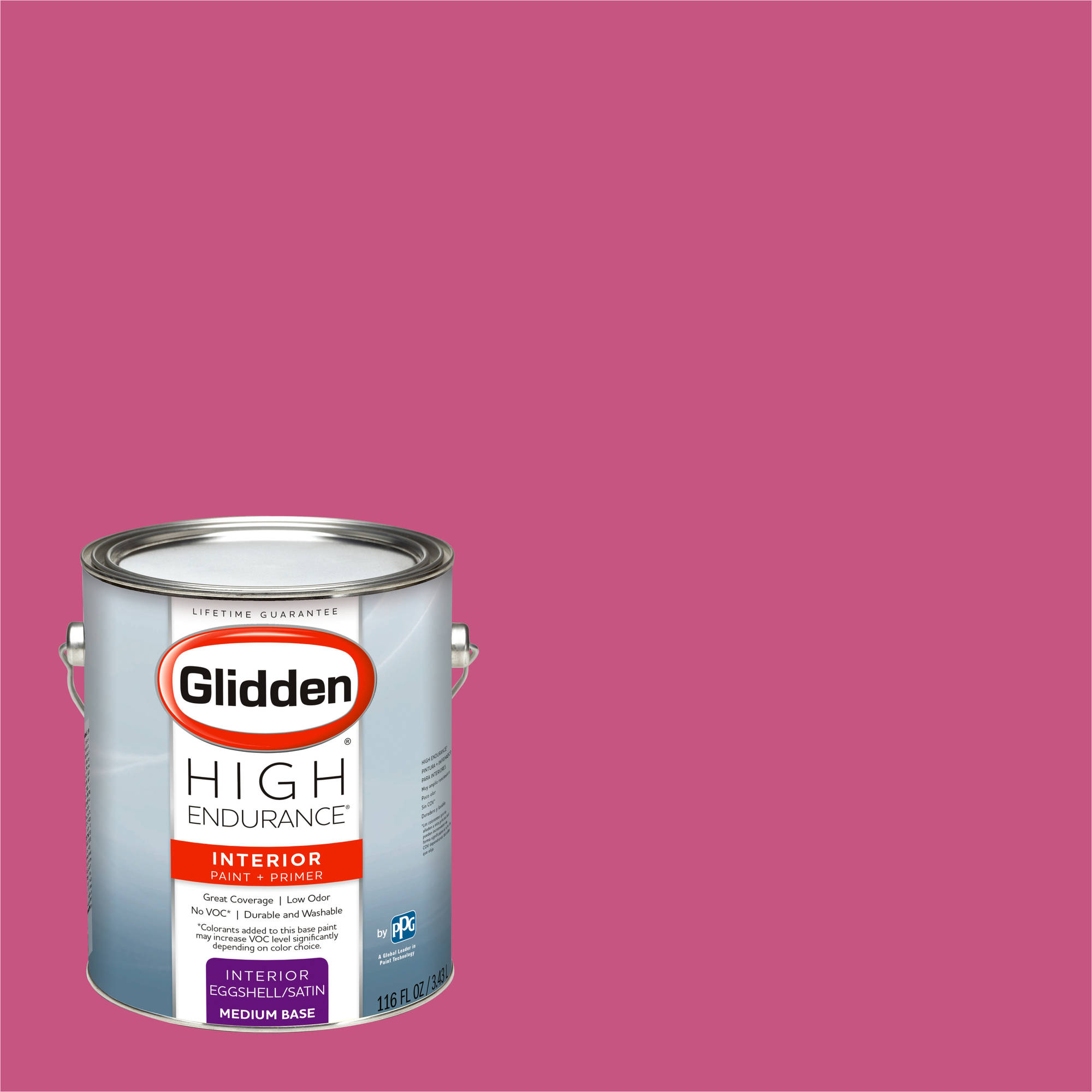 Glidden High Endurance, Interior Paint and Primer, Azalea Pink, # 43RR 19/444