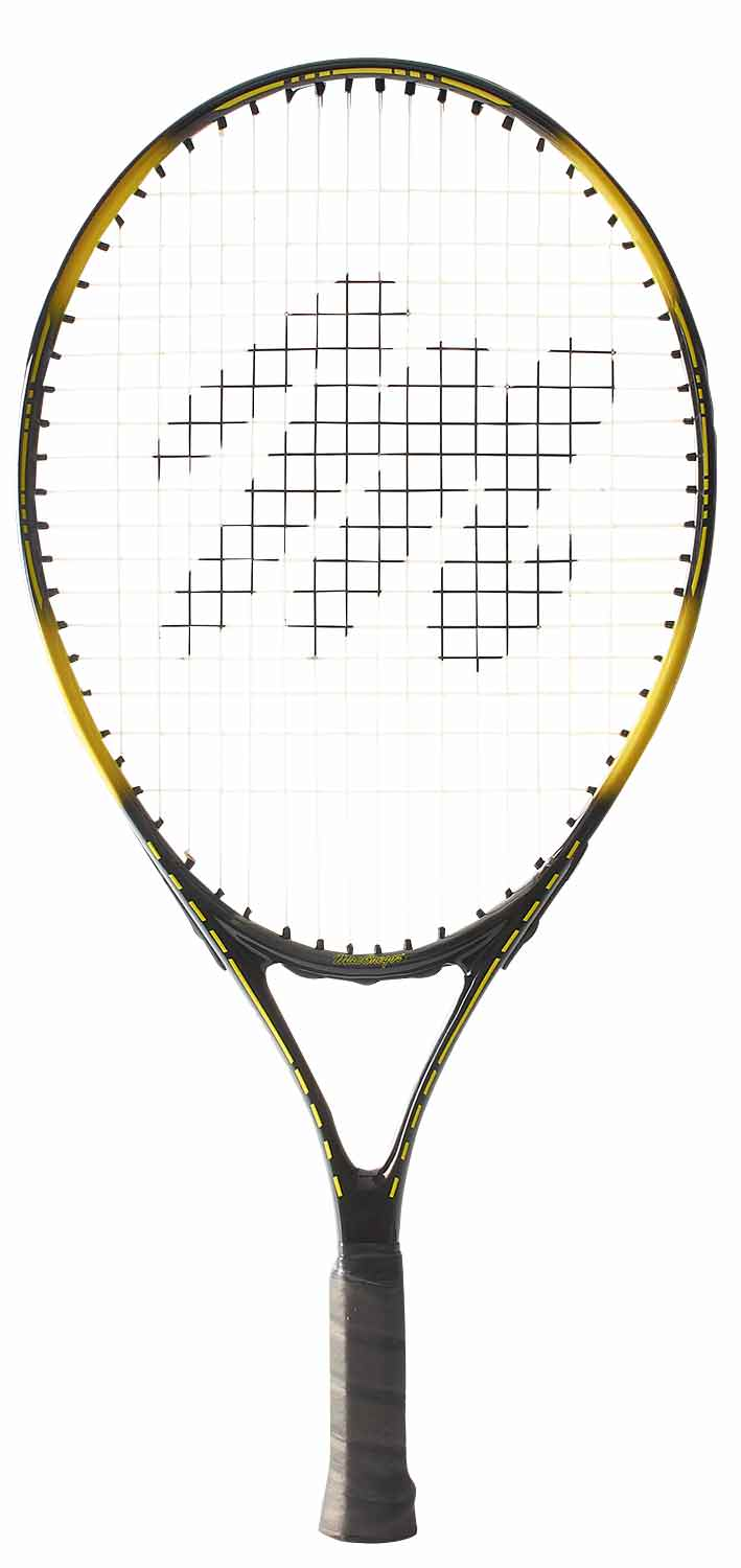 "MacGregor 21"" Youth Tennis Racquet 21""L 4"" Grip (Black Yellow) by BSN Sports"