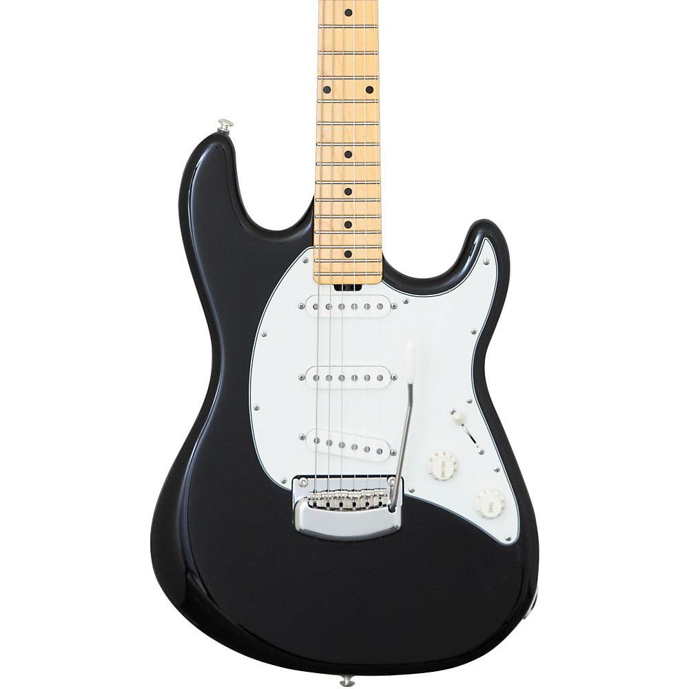 Ernie Ball Music Man Cutlass Trem Maple Fingerboard Electric Guitar Black