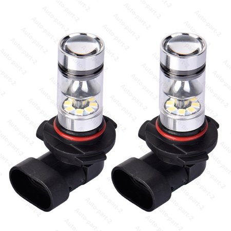 2x 9005 HB3 9145 H10 6000K 100W LED Cree Projector Fog Driving Light Bulb White