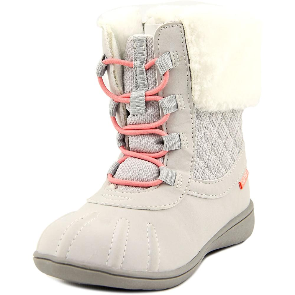 Carter's Kenzie 2 Youth  Round Toe Canvas Gray Snow Boot